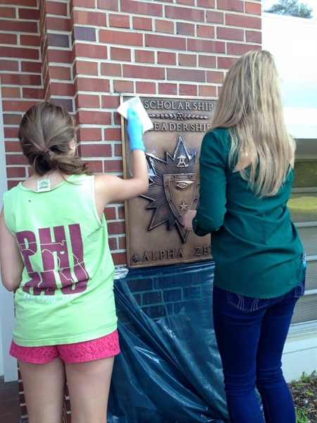 Florida Chapter Pledge Class Plaque Cleaning Service Project