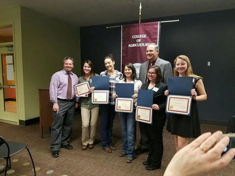 Chico's Alpha Zeta Members Honored at College of Agriculture's Scholarship Ceramony