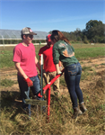North Carolina Chapter works on the Agroecology Farm!